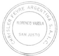 Sello de Chrysler Fevre
